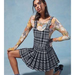 Anna Sui Urban Outfitters Plaid jumper mini dress